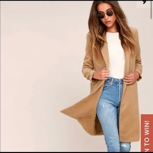 NWT double breasted tan coat